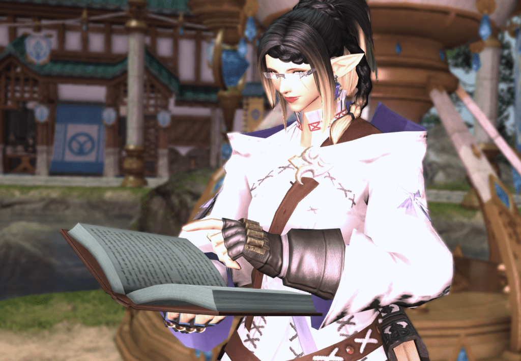 MMO Character Reading Book