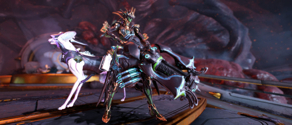 Warframe Titania Prime And Kavat With Heavy Weapon Equipped