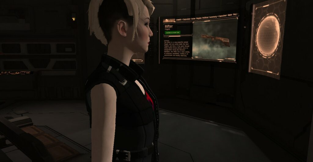 EVE MMO Character Watching Screens