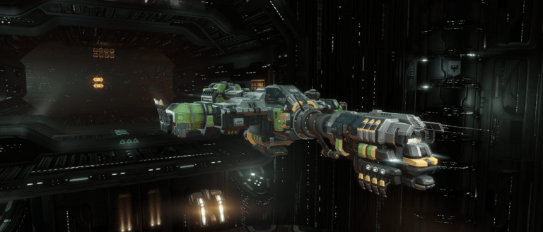 Ore Industrial Command Ship Porpoise Docked EvE Online