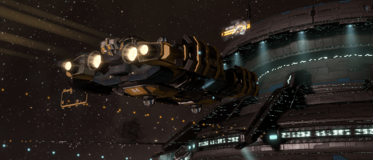EvE Online Mining Barge At Station